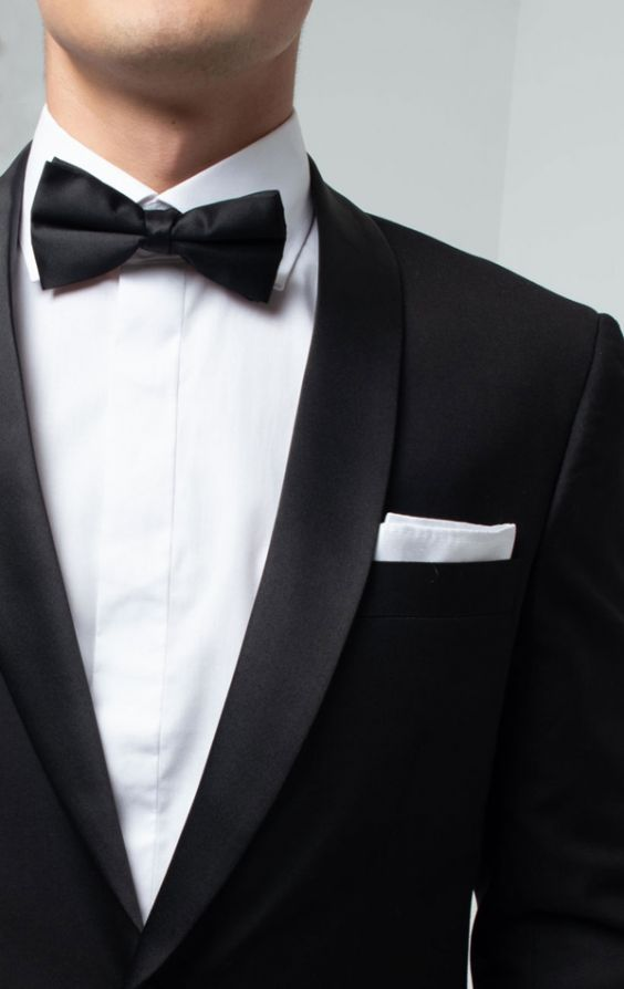 Dobell Herren Smoking-Anzug Wei/ß Zweiteilig Schalkragen Schwarzer Hose